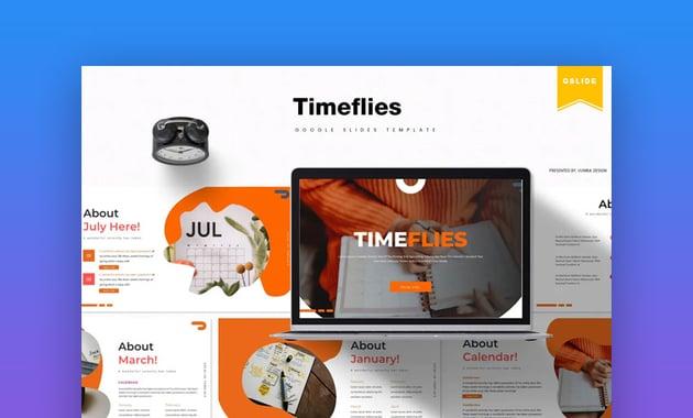 Timeflies calendar Google Slides