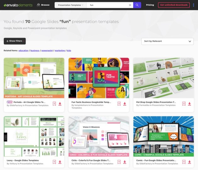 Elements Fun Google Slides themes