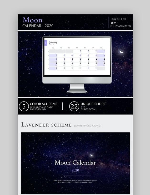 Moon calendar PPT