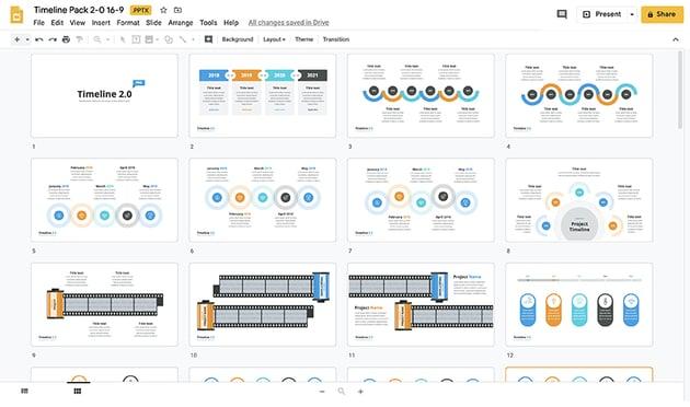 Timeline template Google Slides step 1