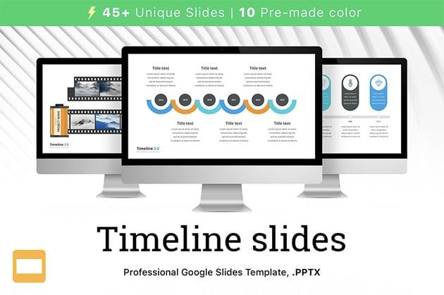 Timeline template Google Slides
