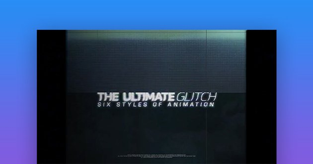 Glitch After Effects templates