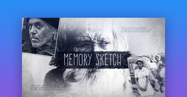 Memory sketch Adobe After Effects templates