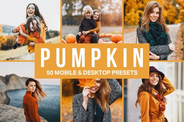 Pumpkin lightroom presets
