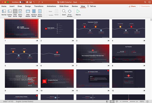 Cubix slides PowerPoint Zoom