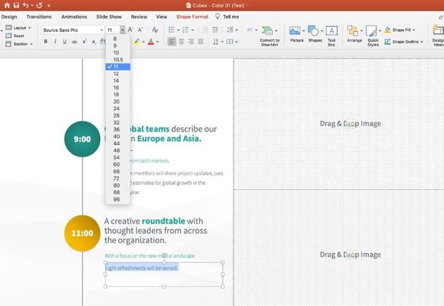 Step 3 PowerPoint agenda slide