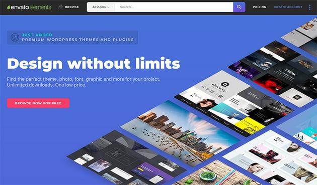 Envato Elements design without limits unlimited
