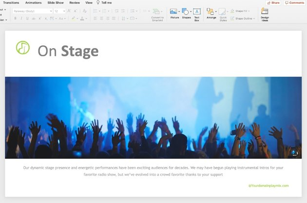Step 4 music PowerPoint templates