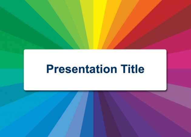 Color radial free PowerPoint background