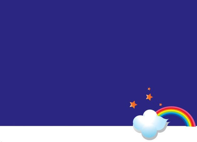 free PowerPoint templates rainbow colors