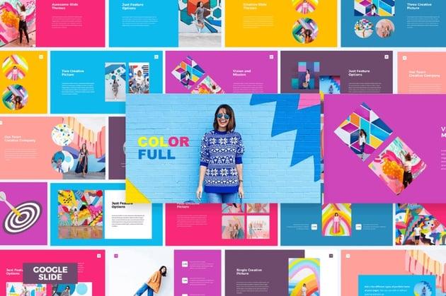 Colorful Google Slides introduction