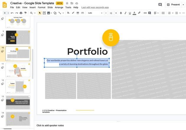 Step 1 how to add a template to Google Slides