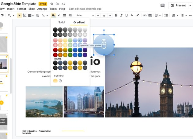 Step 4 how to add a template to Google Slides