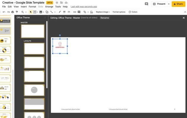 Step 5 make Google Slides template