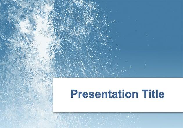 Splash waterfall PPT template free