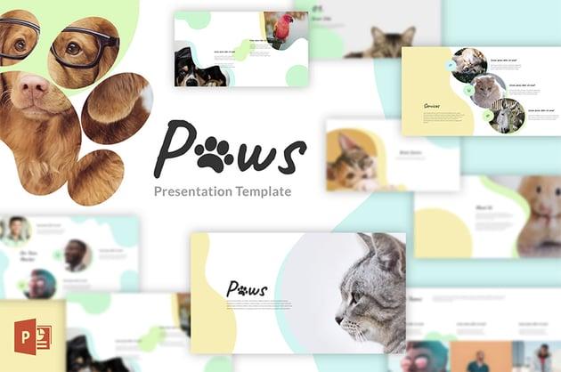 Paws animal slides