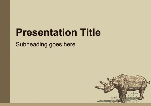 Retro animal Google Slides theme