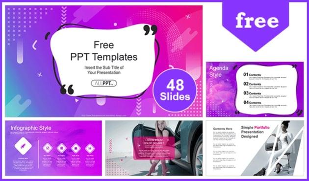 Abstract purple slides