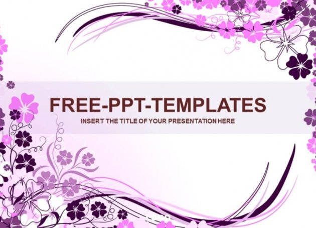 Purple PowerPoint templates free download