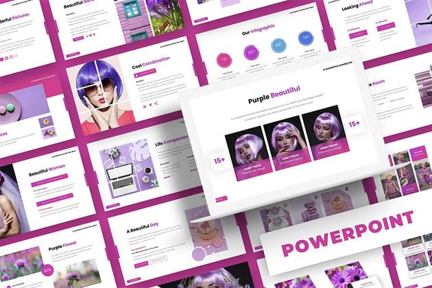 Simple purple PowerPoint presentation background