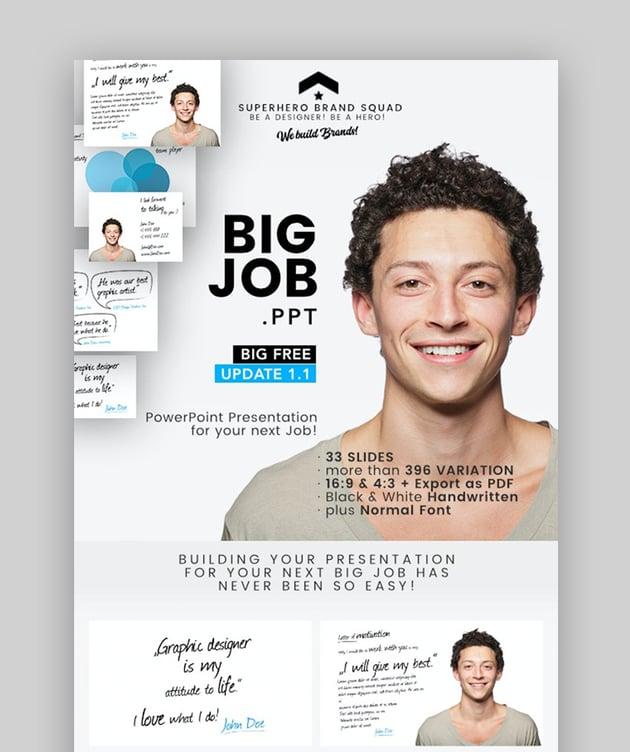 Creative resume PPT