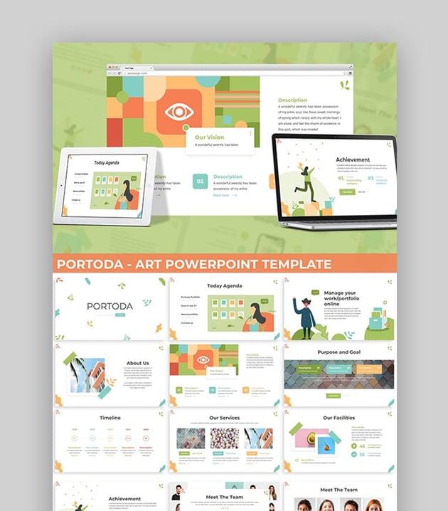 Portoda CV Template PPT PowerPoint Resume Slideshow