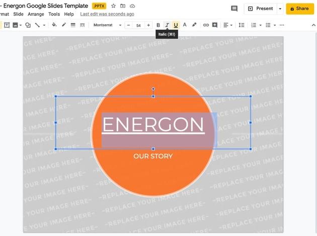 Google Slide template technology fonts