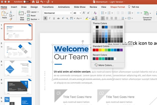 Update font colorful presentation topics