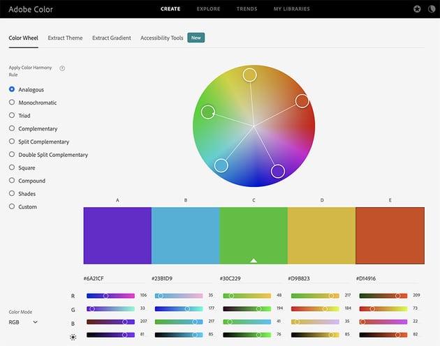 Adobe best presentation color palette