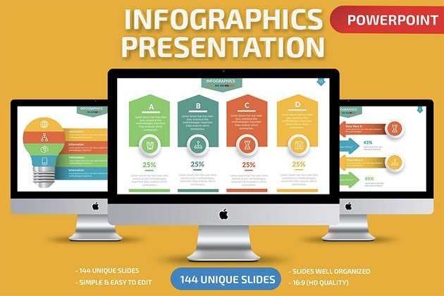 Infographic animated PowerPoint templates