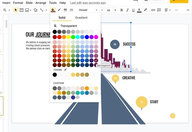 Color infographic themes