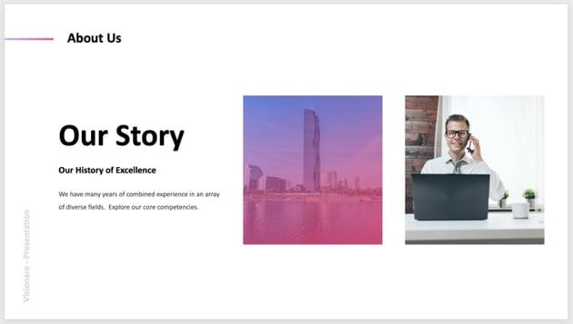 Image presentation deck