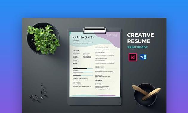 CV modern resume template
