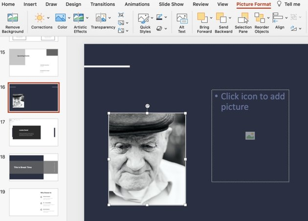 Photo funeral PowerPoint