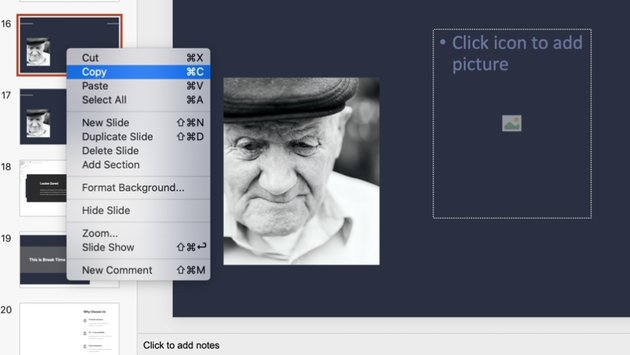 Photo memorial PowerPoint template