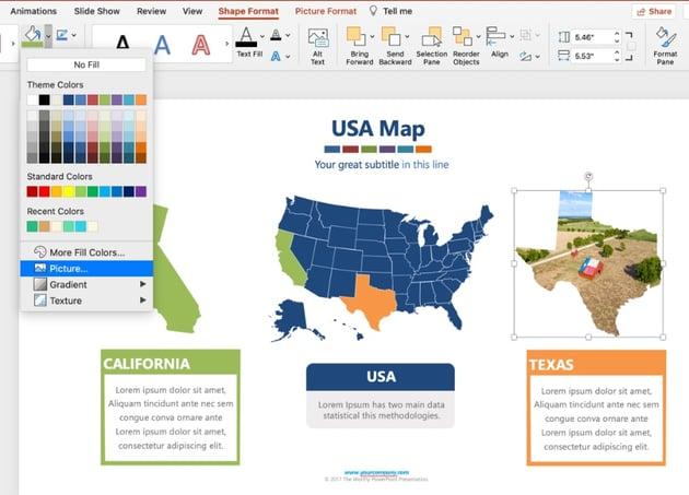 Editable PowerPoint map