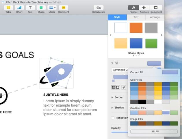 Color Apple pitch deck