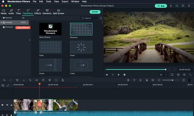Quick transition Filmora tutorial