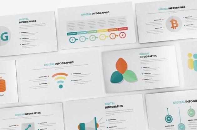 Clean Keynote chart templates