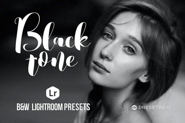 Black tone Lightroom preset