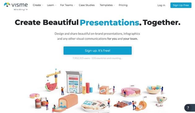 Visme presentation making software