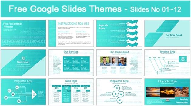 Abstract Binary Code Google Slides Presentation