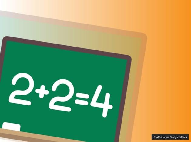Math board math Google Slides theme