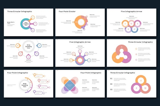 point graphic math Google Slides theme