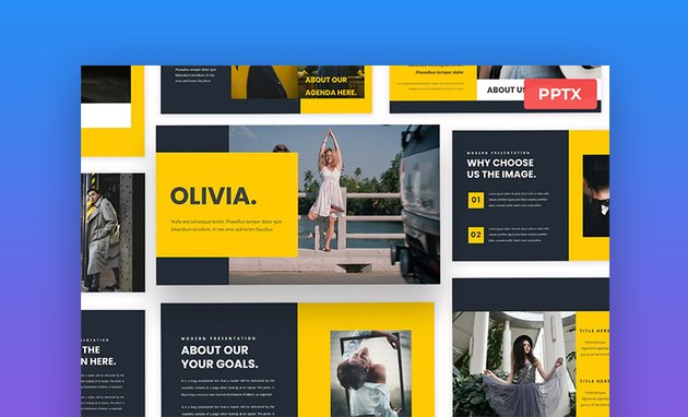 Olivia PowerPoint web version template
