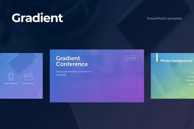 Gradient slide background
