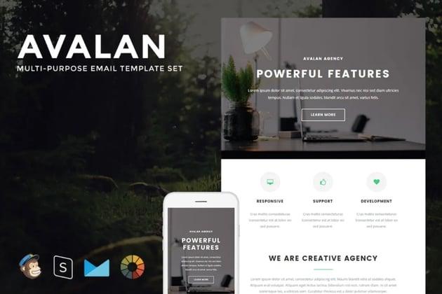 Avalan Mailchimp HTML templates