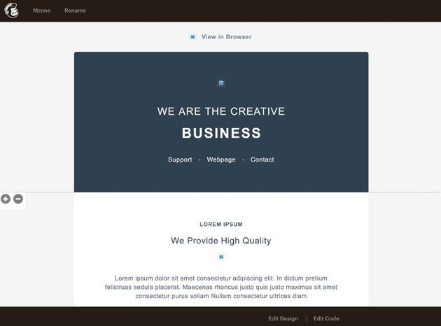 Edit text in Mailchiimp HTML templates