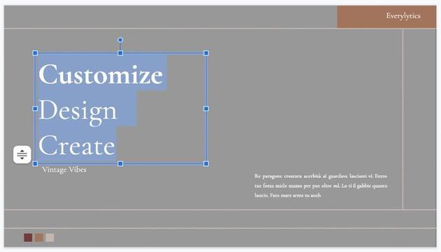 Text on pretty slides