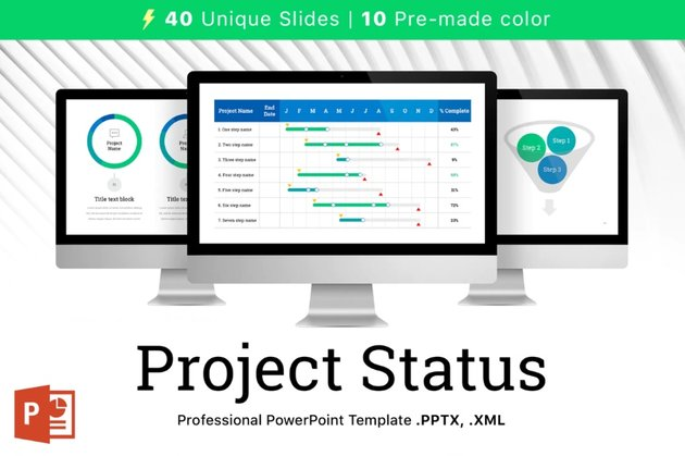 Project status report template 2021
